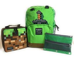 Minecraft 17 Backpack Insulated Lunchbox Sword Free 3 Ring P