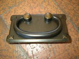 "Mission Style Pull with Drop Handle Approx 3.5 x 2 "" Bronze"