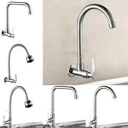 Modern Chrome Kitchen Cold Water Faucet Wash Basin Sink Tap