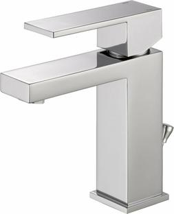 Delta Faucet Modern Single-Handle Bathroom Faucet with Drain