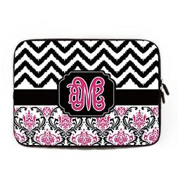 Monogrammed Initials on Computer Sleeve 17 17.3 Inch Persona