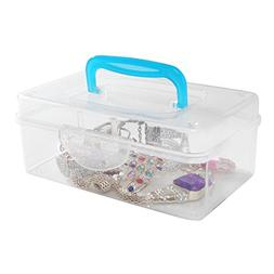 Multi Purpose Mini Clear Plastic Travel Storage Box / Portab