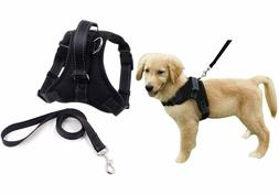 No Pull Dog Harness with Belt and Handle Reflective Adjustab