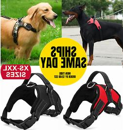 No Pull Dog Pet Harness Adjustable Control Vest Dogs Reflect