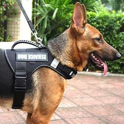 No Pull Service Vest Dog Harness with Soft Handle and Reflec