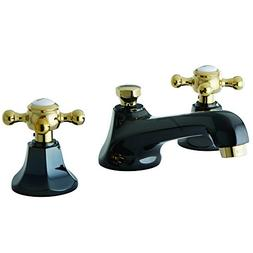 NS4469BX Water Onyx widespread lavatory faucet with brass po