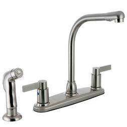 Kingston Brass Nuvofusion Double Handle Kitchen Faucet with