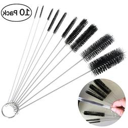 OUNONA 10 Pcs Nylon Tube Brushes Straw Set for Drinking Stra