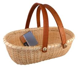 Nantucket Lightship Oblong Bread Style Basket with Handle