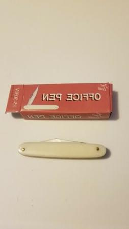 office pen knife with simulated pearl handle