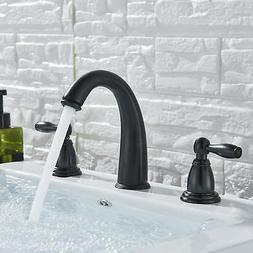 Oil Rubbed Bronze Waterfall Bath Sink Faucet Widespread Dual