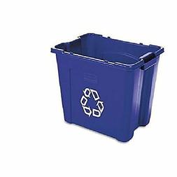 Pack of 6 Rubbermaid Commercial FG571473BLUE Recycling Bin,