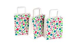 Paper Party Favor Bags Bulk Bright Color Pink Blue Green Red