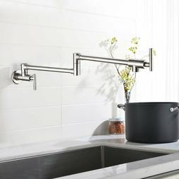 Parma Single Handle Wall Mount Pot Filler - Finish: Stainles
