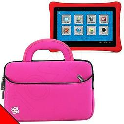 Pink Neoprene Sleeve Cover With Handle for Kids Nabi 2 Table