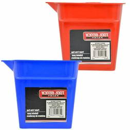 Tool Bench Plastic Paint Cups with Handles Blue or Red 5pc p