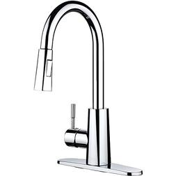 pH7 F06 Plastic Pull Down Kitchen Sink Faucet with Deck Plat