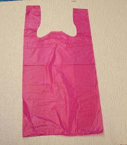 Plastic T-Shirt Bags with Handles You Pick Lot & Colors & Si