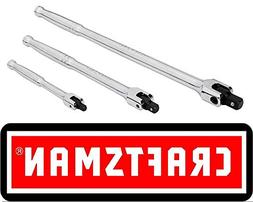 Craftsman 3 pc. Polished Flex Handle Breaker Bar Set - 47017