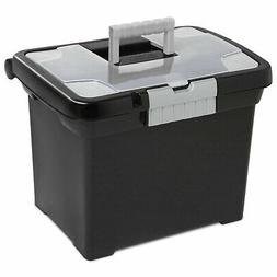 Sterilite Portable File Box with Handle and Clear Lid    187