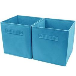 practical foldable cube storage bins with handle
