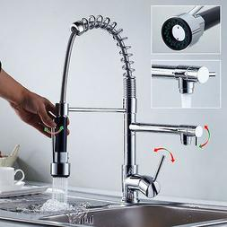 Pull Down Kitchen Faucet Vessel Sink Mixer Tap Swivel Spout