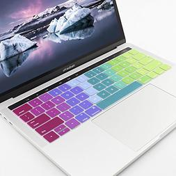 All-inside Rainbow Keyboard Silicone Cover for Macbook Pro 1