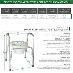 PCP Raised Toilet Seat and Safety Frame , Adjustable Rise He
