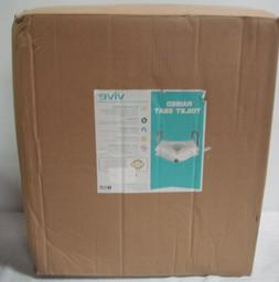 """Raised Toilet Seat by Vive Portable Elevated Riser 5"""" with P"""
