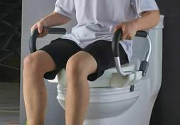 Raised Toilet Seat with Handles to Help with Limited Mobilit