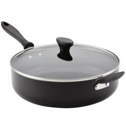 Reliance 6qt Covered Saute Pan with Helper Handle Black