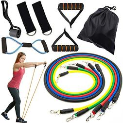 Resistance Bands Set, Exercise Fitness Bands with Door Ancho