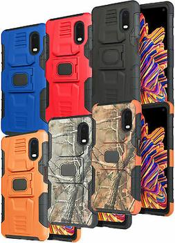 Rugged Case Cover with Stand Ring Grip for Samsung Galaxy XC