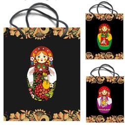 "Russian Bags Kraft Paper Gift Bag With Handles ""Matryoshka"""