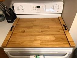 Rustic Stove Top Cover, Wooden Tray For Stove, Wood Stove To
