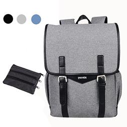 SHAOLONG Canvas Water Repellent Laptop Backpack 15.6 Inch Co