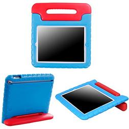 Shock Proof Case for Kids Bumper Handle Stand for Apple iPad
