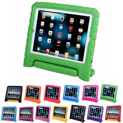 Shock Proof iPad Case for Kids Bumper Cover Handle Stand for