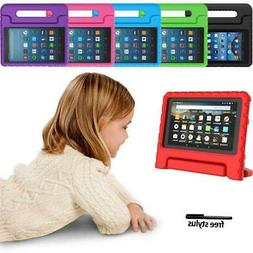 "ShockProof EVA Handle Kids Stand Cover Case For 7"" 8"" Amazon"