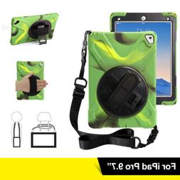 Shockproof Rotating Kickstand Case Cover with Hand Strap Han