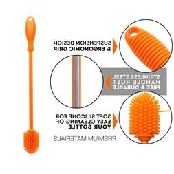 "Silicone Bottle Cleaning Brush with Long Handle, 12.5"" Wat"
