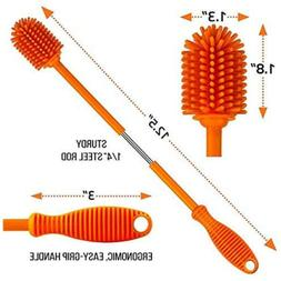 "Silicone Bottle Cleaning Brush with Long Handle,12.5"" for"