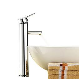 Above Counter Bathroom Sink Faucet Combo Single Handle Solid