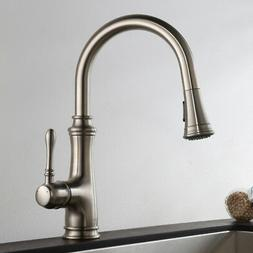 Keewi Single Handle Kitchen Faucet with Pull down Sprayer, B