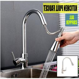 Single Handle Kitchen Faucet with Pull down Sprayer Stainles