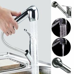 NEW Single Handle Kitchen Pull Down Faucet with Sprayer Stai