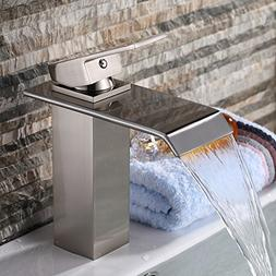 Yodel Single Handle Waterfall Bathroom Vanity Sink Faucet