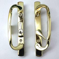 Sliding Glass Patio Door Handle Set Mortise 2265 Brass Plate