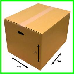 "Small shipping box Moving with Handle Holes cardboard 12""x12"