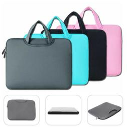 soft notebook laptop sleeve bag with handle